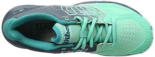 Wilson Wrs322450e050, Scarpe da Tennis Donna, Verde (Electric Green / Reflecting Pond / Arub), 38 2/3 EU