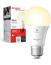 Sengled Smart Bulb, Alexa Light Bulb Bluetooth Mesh, Smart Light Bulbs That Work with Alexa Only, A19 Dimmable LED Bulb E26, 60W Equivalent Soft White 800LM, Certified for Humans Device, 1 Pack