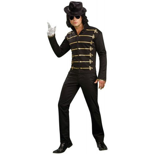 [Michael Jackson Military Printed Jacket, Adult Medium Costume] (Mj Thriller Halloween Costume)