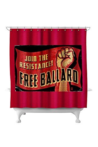Free Ballard! (71x74 Polyester Shower Curtain) ()