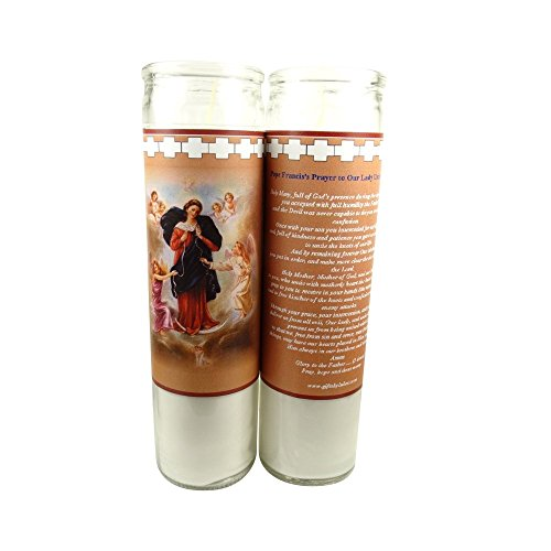 (Mary Untier Undoer of Knots Set of 2 Two Candles Prayer in)