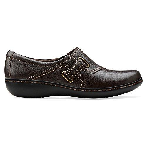 Clarks Ashland Blush Damen Braun Rund Leder Slipper Schuhe
