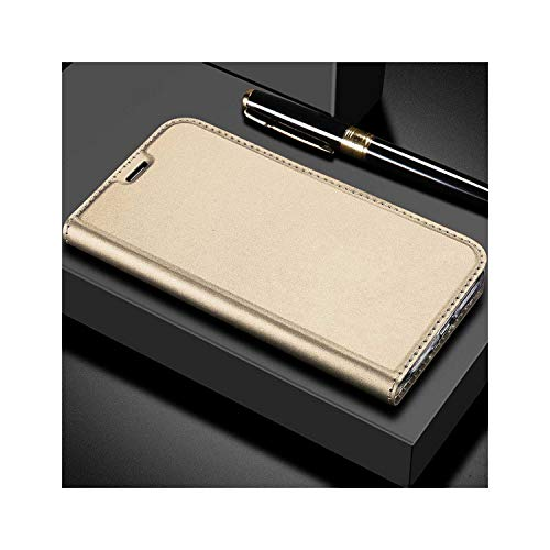 Perfectiy Compatible for Slim Leather Soft Flip Book Wallet Case for iPhone X 8 6 6S S 7 Plus 5 5S Se Xr Xs Max Card Holder Stand Cover,for iPhone 5 5S Se,Gold