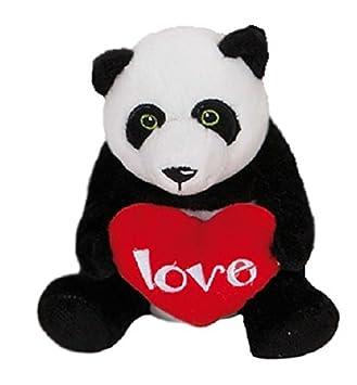 Peluche Oso panda con un corazón rojo Love 18cm super suave