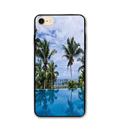 Haixia Iphone 7 8 Shell 4 7 Inch House Decor Infinity Pool Palm Tree Reflections Crystal Water In Tropical Resort Photo Full Blue Green White