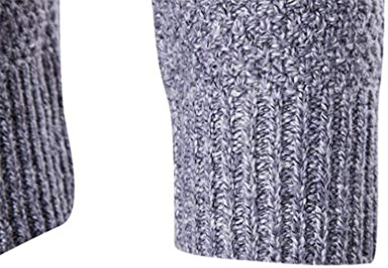 HaiDean męski sweter z długim rękawem Crew Neck Sweater Knit sweter dziergany Basic Modernas swobodna wiosna jesień elegancki normalny lakier sweter dziergany: Odzież