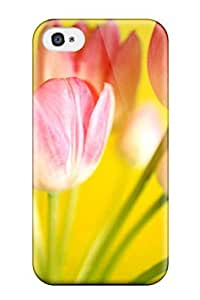 Durable Defender Case For Iphone 4/4s Tpu Cover(tulips Flowerss) by mcsharks