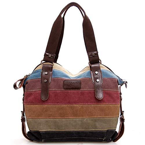 Women Retro Hobo Handbags Canvas Casual Shoulder Bags Satchel Messenger Bag Purse (One size, Multicolor) ()
