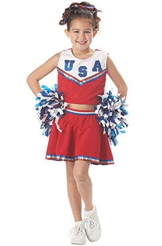 Costumes Group Girls (CHILD Med 8-10 - CHILD RED Patriotic Cheerleader)