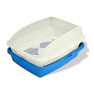 Van Ness CP5 Sifting Cat Pan/Litter Box with Frame, Blue/Gray 89