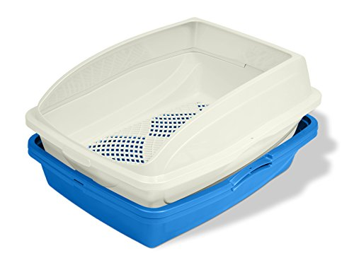 (Van Ness CP5 Sifting Cat Pan/Litter Box with Frame, Blue/Gray)