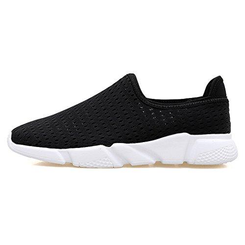 Men Women Ultra Light Weight Water Aqua Shoes Quick Drying Slip On Mesh Sneakers Black 250mm:9 B(M) US Women/7 D(M) US Men from SEVENWELL