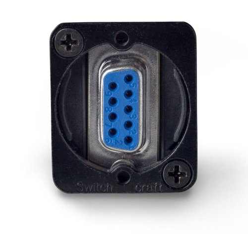 Eh Panel Mount Connector - Switchcraft EHDB9FFB DB9 Female to Female Panel Mount, Black Finish