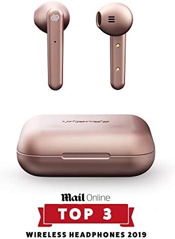 [Gesponsert]Urbanista Stockholm True Wireless Kopfhörer. 14H gesamt Akkulaufzeit. Bluetooth 5.0 inkl. Ladebox, Touch Bedienung und doppel Mikrofon Kopfhörer. Kompatibel mit iOS und Android - Roségold