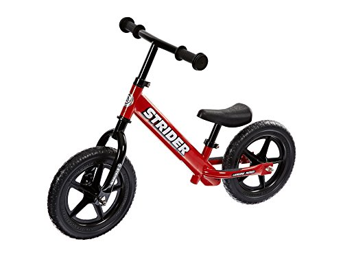 - Strider - 12 Classic No-Pedal Balance Bike, Ages 18 Months to 3 Years, Red