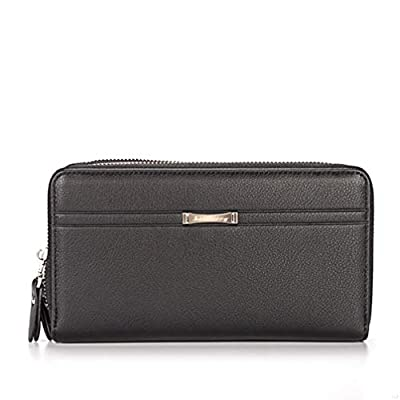 SLBGADIEME Zip Wallet Bag Purse for ID Card Driver License Money Coins iPhone 6Plus Men Black