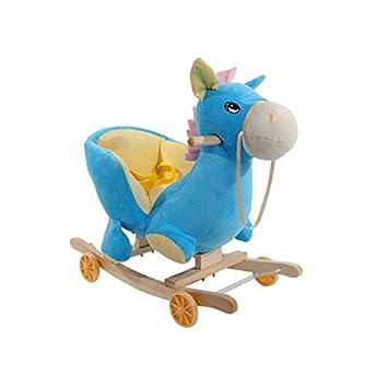 Balancín de Animal con ruedas Para Niño mecedora silla mecedora de juguete especial para niños, Caballitos de juguete (Caballo azul): Amazon.es: Juguetes y ...