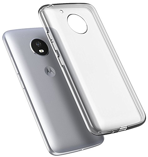 size 40 7478b c69a9 Moto E4 Case, Clear Transparent Flex Gel TPU Skin Slim Cover for Motorola  Moto E 4th Generation (XT1766/XT1767/XT1768)