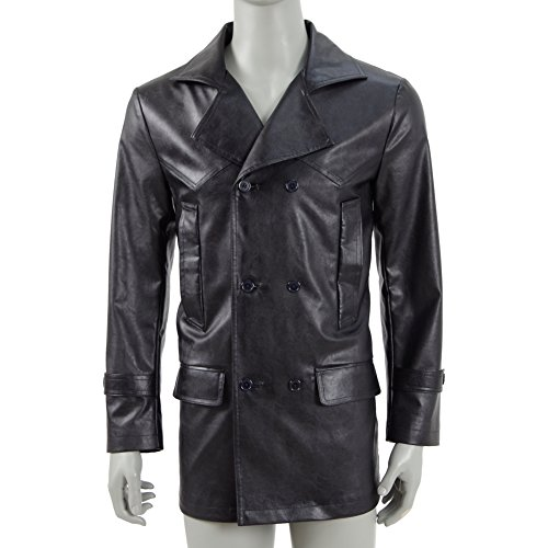 Doctor WWhhoo The 9th Doctor Faux Leather Jacket Coat Costume (Man S, (The 9th Doctor Costume)