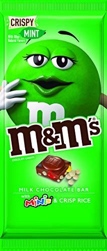 M&M's M&M'S Crispy Mint & Minis Milk Chocolate Candy Bar, 3.8-Ounce Bar, 3.8 oz -