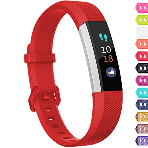 Ouwegaga Compatible for Fitbit Alta Bands and Fitbit Ace Bands Red for Kids Small