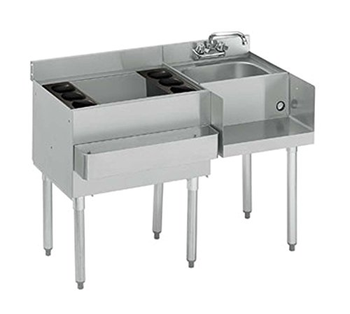 Krowne 21-W48L-7 - 2100 48'' Ice Bin /Blender Station with Cold Plate Bin on Left by Krowne