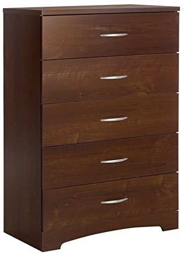 South Shore Step One 5-Drawer Dresser, Sumptuous Cherry with Matte Nickel ()