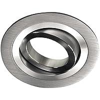 Wonderlamp Classic - Foco empotrable redondo aluminio, gris