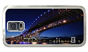 Hipster Samsung Galaxy S5 Case custom covers ontario blue water bridge PC Transparent for Samsung S5