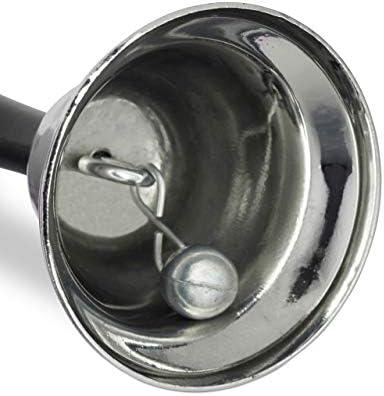 lauter Klang Weihnachtsdeko Holzgriff Schule Rezeption TXSD Silber Tischglocke Handglocke Eisen 12.5 cm gro/ß,Handglocke Metall Teeglocke Service Bell