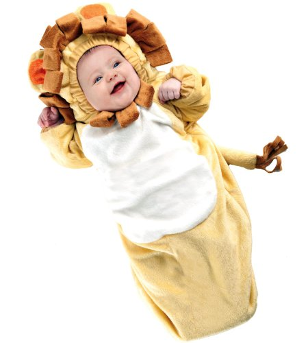 Lion Costumes Bunting (Underwraps Baby's Lion Bunting, Yellow/Brown, Infant)