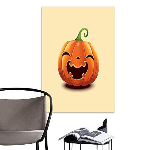 UHOO Modern Canvas PaintingRealistic Vector Halloween Pumpkin Happy face Halloween Pumpkin Isolated on Light Background .jpg Home Decoration Home Office Wall Print On 24