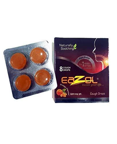 Buy Eazol Cough Drops Orange Flavour 8 Drops Pack Of 12
