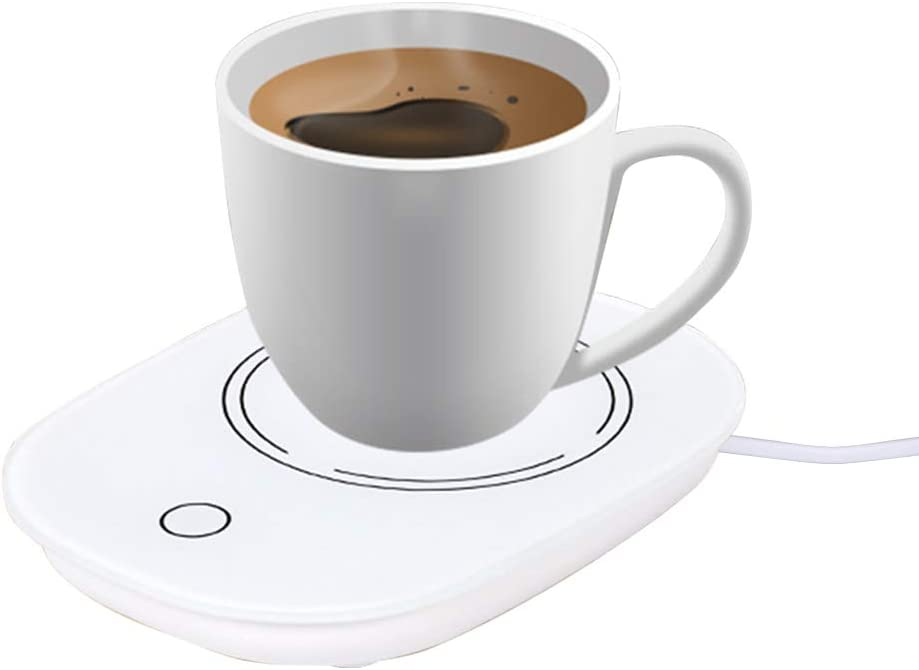 RoofWorld Coffee Mug Warmer, Smart Beverage Warmer with Touch Screen Switch, 55℃ Electric Thermostat Automatic Cup Warmer for Office Home Use to Heat Coffee, Milk, Tea, Water, Beverages