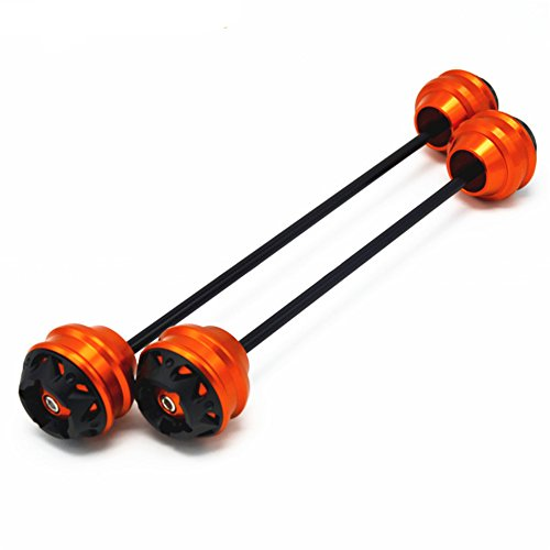 Orange CNC Modified Motorcycle Front and rear wheels for sale  Delivered anywhere in USA