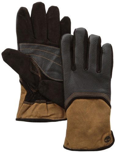Timberland Men's Deerskin and Waxed Cotton Canvas (Mens Canvas Gloves)