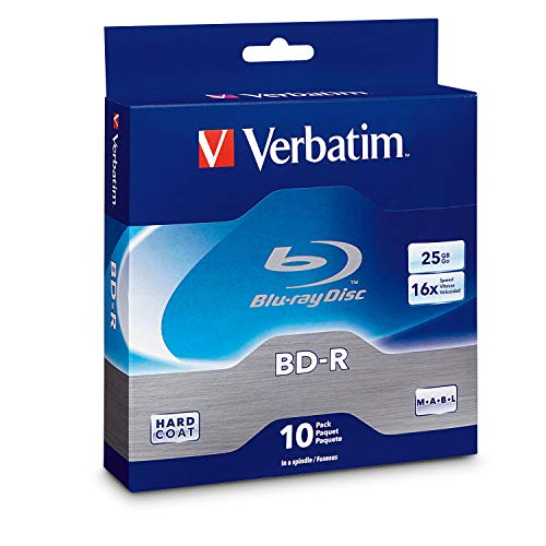 Verbatim BD-R 25GB 16X Blu-ray Recordable Media Disc - 10 Pack Spindle - 97238 (Best 4k Calibration Disc)