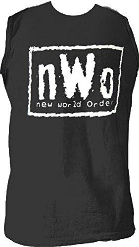 - New World Order Wrestling Black Mens Sleeveless T-shirt (Adult X-Large)