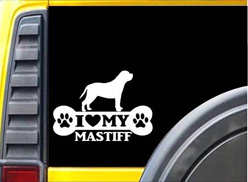 Mastiff Ornaments - Mastiff Bone Sticker k078 8 inch english mastiff decal