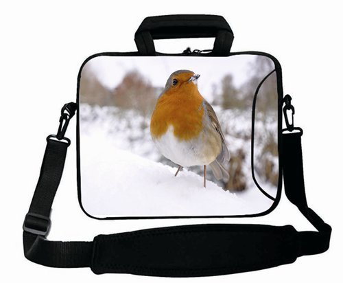 Cool Print Custom ( Animals bird snowS winter white orange ) Shoulder Bag For Women (15