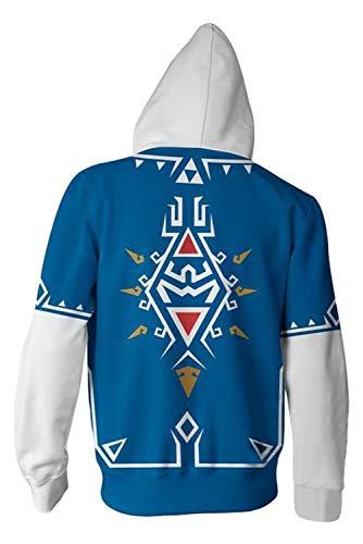 The Legend of Zelda Cosplay Costume Breath of The Wild Link Hoodie Sweatershirt Men's Halloween Zip  - http://coolthings.us