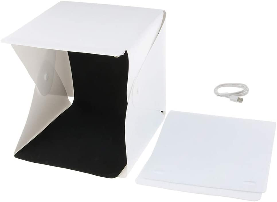 Mini LED Lichtzelt Lichtwürfel Fotostudio Softbox Fotozelt faltbar USB Anschluss