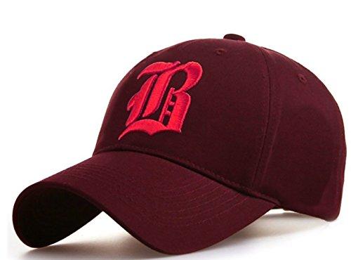4sold - Gorra de béisbol - para hombre B maroon pink