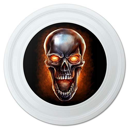 - GRAPHICS & MORE Chrome Metal Flaming Skull Novelty 9