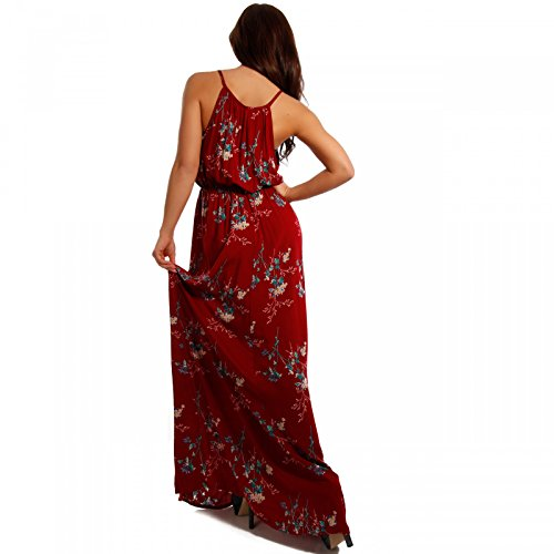Young-Fashion - Vestido - Con cortes - Floral - Sin mangas - para mujer Mehrfarbig/Model1