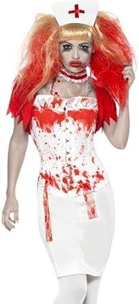Disfraz de enfermera de goteo de sangre: Amazon.es: Ropa y accesorios