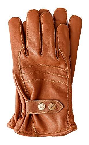 Riparo Men's Insulated Full-Grain Leather Driver Work Glove (Brown, Large)