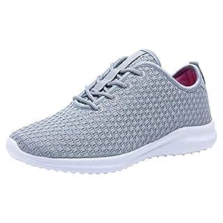 YILAN Women's Fashion Sneakers Breathable Sport Shoes (6, Grey)