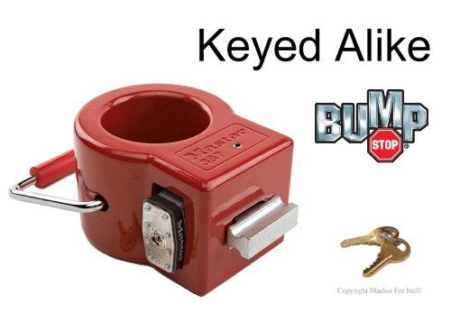 Master King Pin Lock-Toy Hauler/Trailer Locks w/BumpStop #387NKA ()