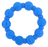 Nuby 100% Silicone Teether Ring, 3 Months + Colors May Vary